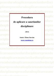 Procedura de aplicare a sanctiunilor disciplinare