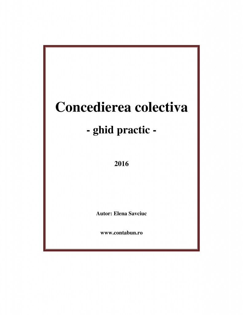concediere colectiva